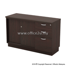 Q-YSP7123-W COMBINATION LOW CABINET (SLIDING DOOR + FIXED PEDESTAL 2D1F)